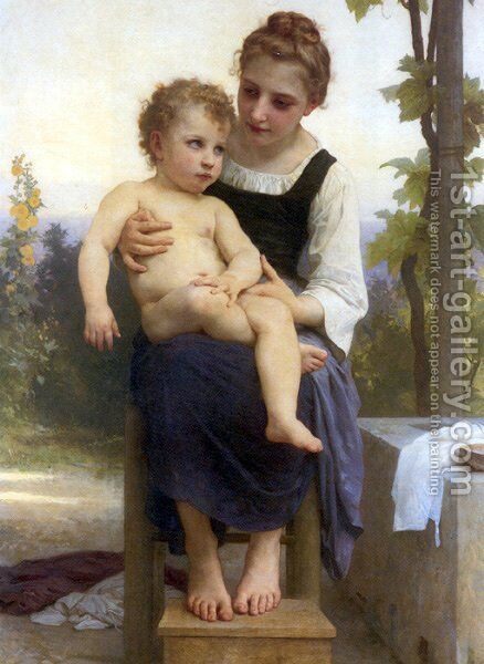 After the Bath by William-Adolphe Bouguereau - Reproduction Oil Painting