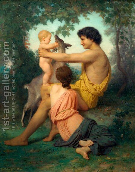 Idylle 2 by William-Adolphe Bouguereau - Reproduction Oil Painting