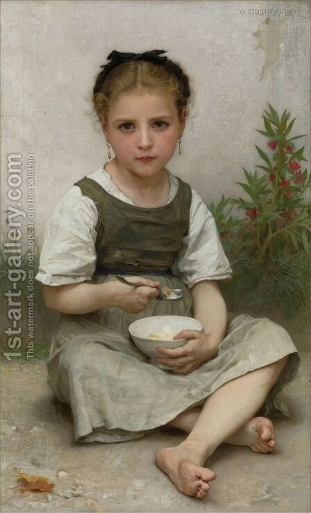 Lunch in the Morning by William-Adolphe Bouguereau - Reproduction Oil Painting