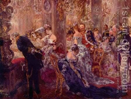 In the White Hall by Adolph von Menzel - Reproduction Oil Painting