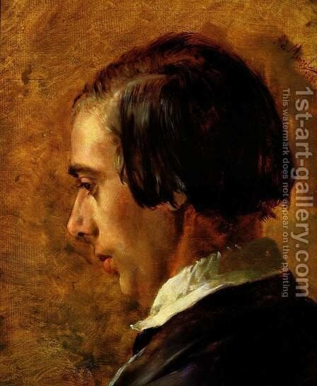 Portrait of Menzel's brother Richard by Adolph von Menzel - Reproduction Oil Painting