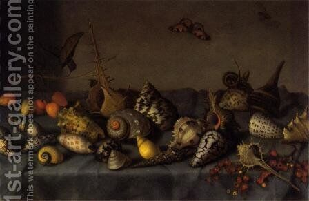 Still life with shells (detail) by Balthasar Van Der Ast - Reproduction Oil Painting