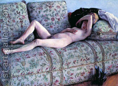 Nude woman by Gustave Caillebotte - Reproduction Oil Painting