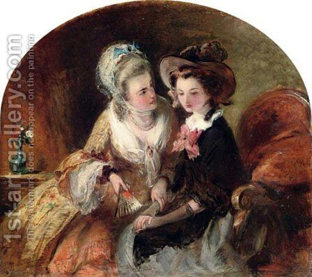 The town and country belle by Abraham Solomon - Reproduction Oil Painting