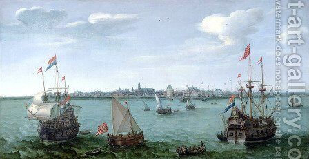 View of Hoorn (Netherlands) by Cornelis Hendricksz. The Younger Vroom - Reproduction Oil Painting