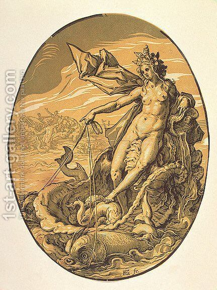Amphitrite by Hendrick Goltzius - Reproduction Oil Painting