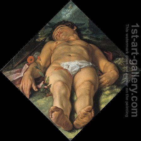 Dying Adonis by Hendrick Goltzius - Reproduction Oil Painting
