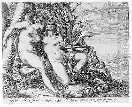 Justice and Prudence by Hendrick Goltzius - Reproduction Oil Painting