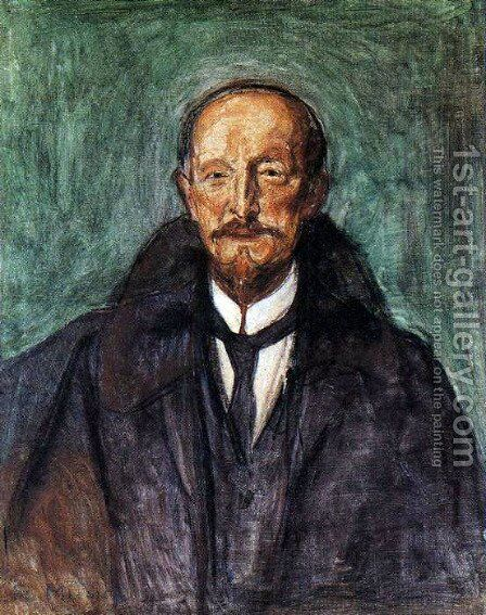 Albert Kollmann by Edvard Munch - Reproduction Oil Painting