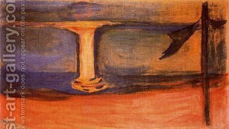 Asgardstrand by Edvard Munch - Reproduction Oil Painting