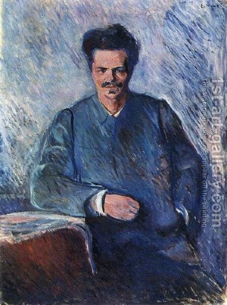 August Strindberg by Edvard Munch - Reproduction Oil Painting