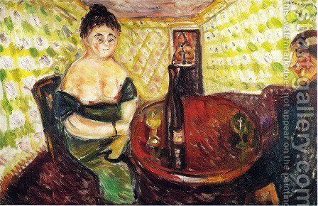 Brothel Scene. For sweet Madel. From the series The Green Room by Edvard Munch - Reproduction Oil Painting