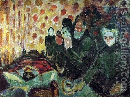 By the Deathbed by Edvard Munch - Reproduction Oil Painting