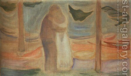 Couple on the Shore by Edvard Munch - Reproduction Oil Painting