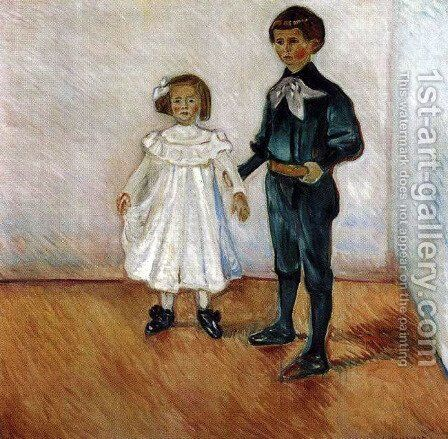 Erdmute and Hans Herbert Esche by Edvard Munch - Reproduction Oil Painting