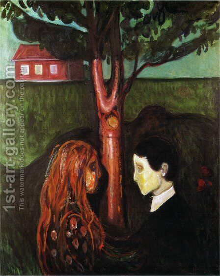 Eyes in eyes 1884 by Edvard Munch - Reproduction Oil Painting