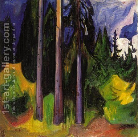 Forest by Edvard Munch - Reproduction Oil Painting