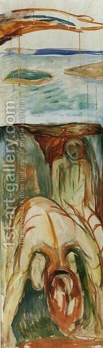 Fragment of War (The Storm) by Edvard Munch - Reproduction Oil Painting