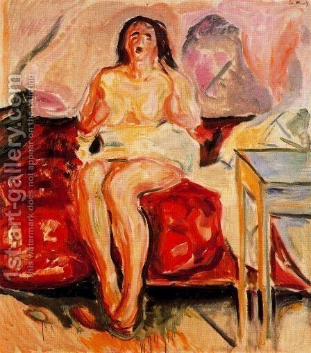 Girl Yawning by Edvard Munch - Reproduction Oil Painting