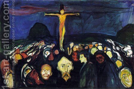 Golgotha by Edvard Munch - Reproduction Oil Painting