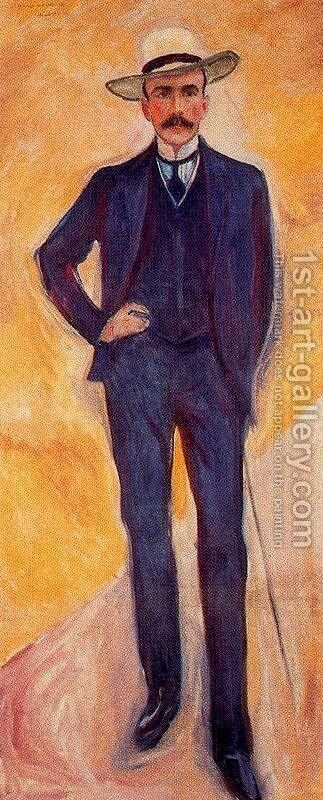 Harry Graf Kessler by Edvard Munch - Reproduction Oil Painting