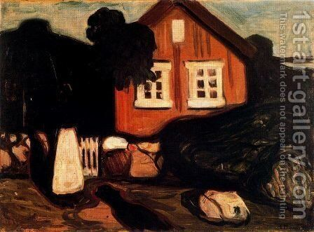 House in Moonlight by Edvard Munch - Reproduction Oil Painting