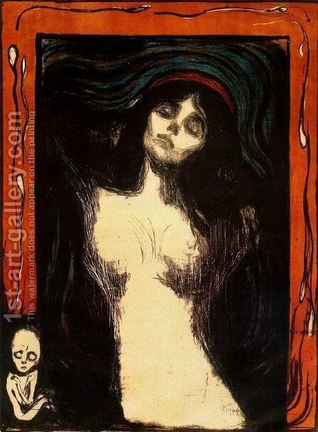 Madonna 3 by Edvard Munch - Reproduction Oil Painting