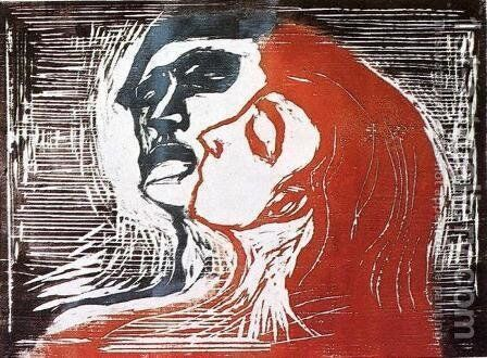 Man and Woman by Edvard Munch - Reproduction Oil Painting