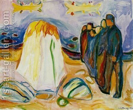 Meeting by Edvard Munch - Reproduction Oil Painting