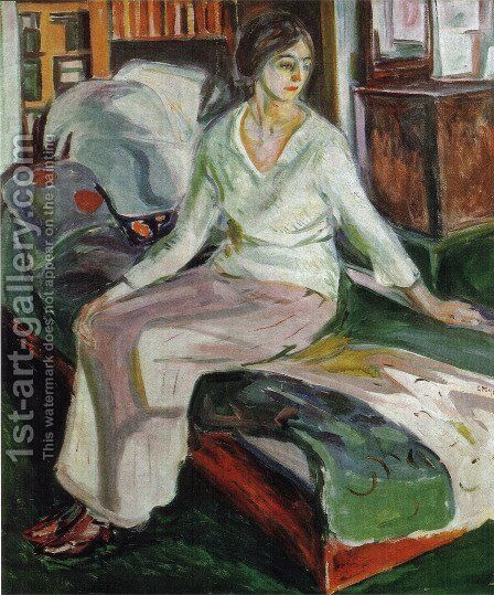 Model on the Couch by Edvard Munch - Reproduction Oil Painting