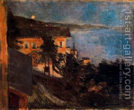 Moonlight over Oslo Fjord by Edvard Munch - Reproduction Oil Painting