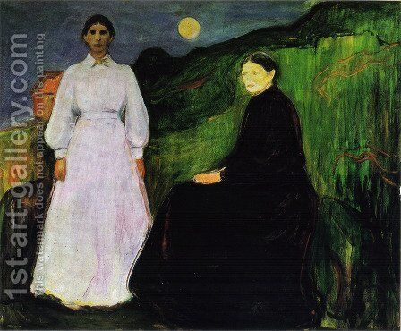 Mother and Daughter by Edvard Munch - Reproduction Oil Painting
