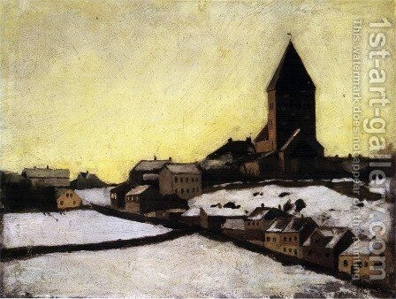Old Aker Church by Edvard Munch - Reproduction Oil Painting