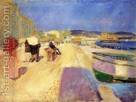 Promenade des Anglais, Nice by Edvard Munch - Reproduction Oil Painting