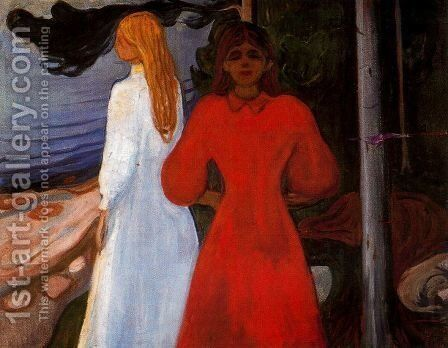 Red and White by Edvard Munch - Reproduction Oil Painting