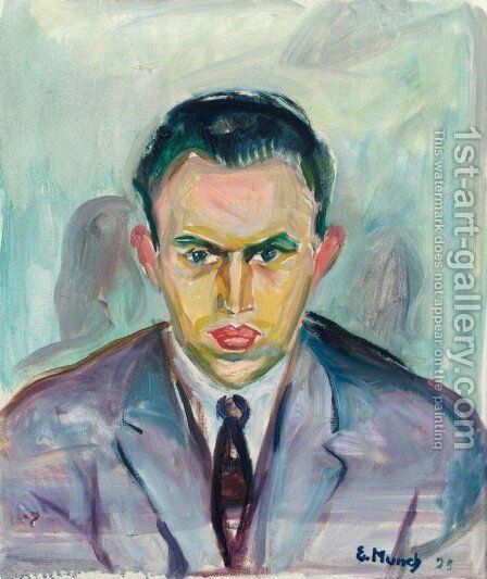Rolf Stenersen by Edvard Munch - Reproduction Oil Painting