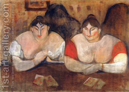 Rose and Amélie 1893 by Edvard Munch - Reproduction Oil Painting