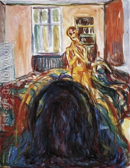 Self-Portrait During the Eye Disease I by Edvard Munch - Reproduction Oil Painting