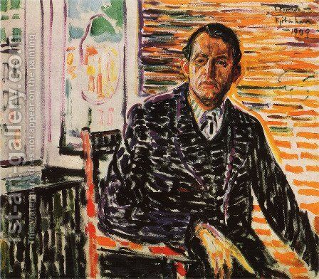 Self-Portrait at Professor Jacobson's Hospital by Edvard Munch - Reproduction Oil Painting