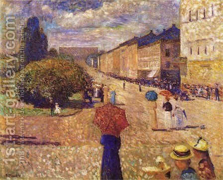 Spring Day on Karl Johan Street by Edvard Munch - Reproduction Oil Painting