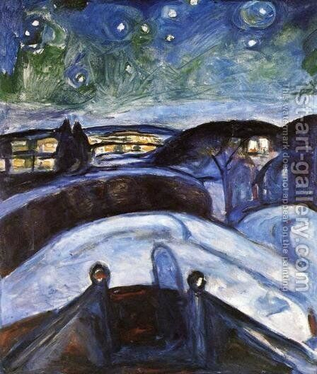 Starry Night by Edvard Munch - Reproduction Oil Painting