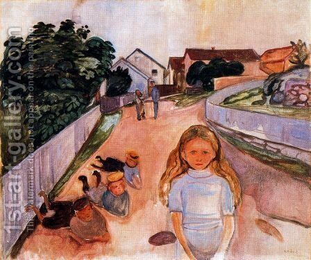 Street in Asgardstrand by Edvard Munch - Reproduction Oil Painting