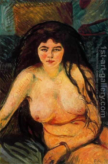 The Beast by Edvard Munch - Reproduction Oil Painting
