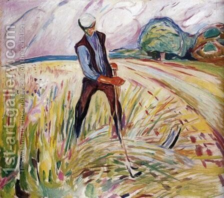 The Haymaker by Edvard Munch - Reproduction Oil Painting