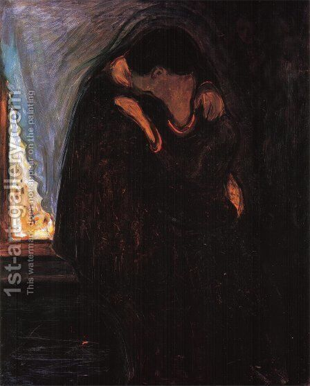 The Kiss by Edvard Munch - Reproduction Oil Painting