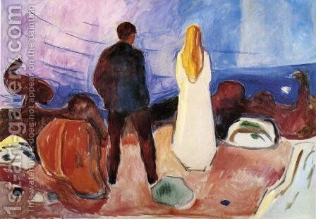 The Lonely Ones by Edvard Munch - Reproduction Oil Painting