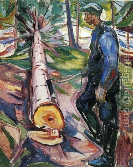 The Lumberjack by Edvard Munch - Reproduction Oil Painting