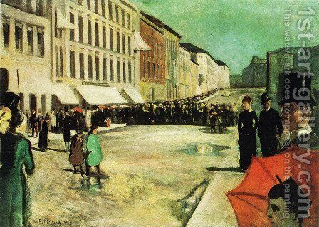The Military Band on Karl Johan Street by Edvard Munch - Reproduction Oil Painting