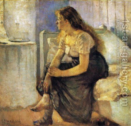 The Morning 1884 by Edvard Munch - Reproduction Oil Painting