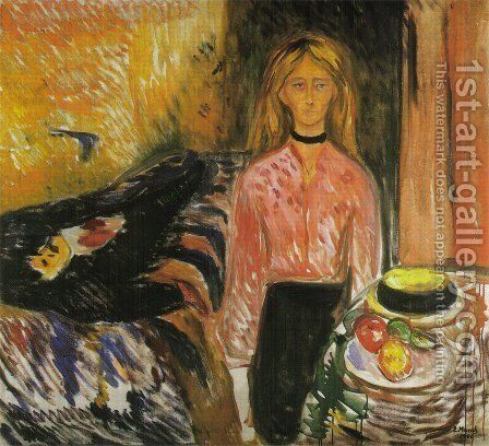 The Murderess by Edvard Munch - Reproduction Oil Painting